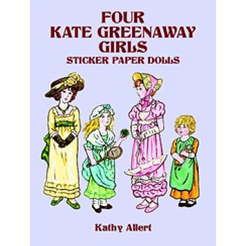 Kate Greenaway Girls Tea Party Reusable Sticker Paper Dolls Activity Set