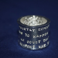 Ring Silver Poetry Stars
