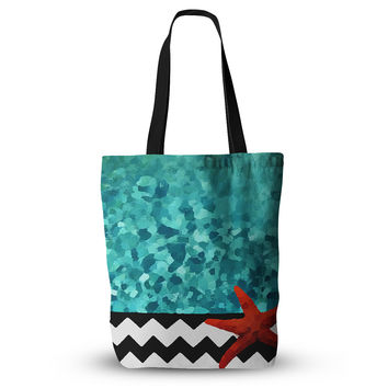 "Oriana Cordero ""Turquoise Ocean"" Blue Aqua Everything Tote Bag"