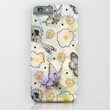 Butterfly In the Sky iPhone & iPod Case by Jenndalyn