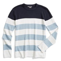 Boy's Vince Colorblock Stripe Sweater,