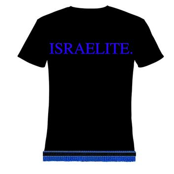 Israelite Period In Blue T-shirt With Fringes