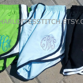 Monogrammed Running Shorts- Womens and Youth Sizes