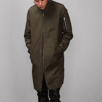 Mens Back Zipped Overlong MA-1 Flight Bomber at Fabrixquare