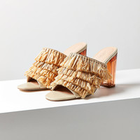 Raffia Lucite Heel | Urban Outfitters