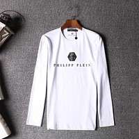 Philipp Plein Women Men Fashion Casual Scoop Neck Long Sleeve Top Sweater Pullover