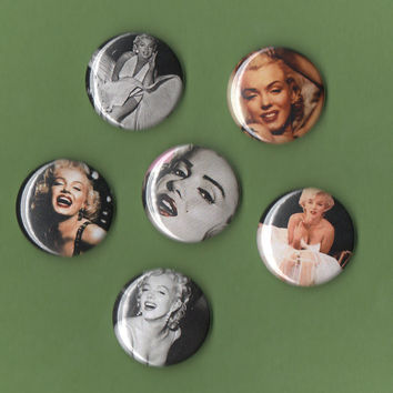 Marilyn Monroe 1 inch MAGNET set by MisplacedTalents on Etsy