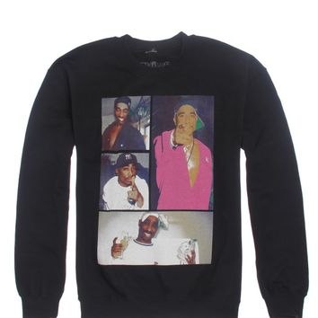 Bioworld Tupac Collage Crew Fleece - Mens Hoodie - Black