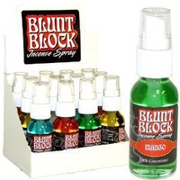 Blunt Block Incense Spray (Box of 12 x 1-oz Pumps)