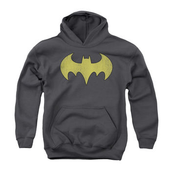 Batgirl Distressed Logo Youth Pullover Hoodie