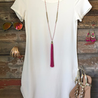 Fun in the Sun Tunic Dress: White