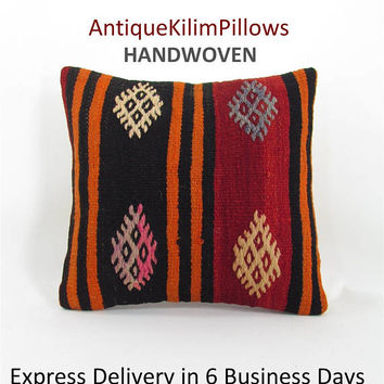 kilim pillow cover cushions oriental pillow case throw pillow urban kilim pillow kilim rug decorative pillow case ethnic pillow cover 000710