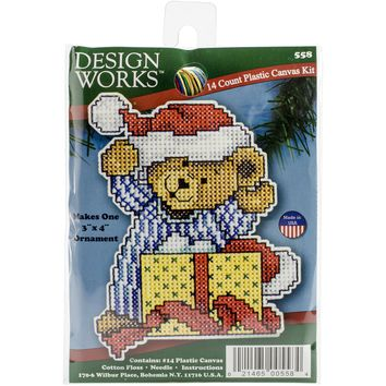 "Bear (7 Count) Design Works Plastic Canvas Kit 4""X3"""