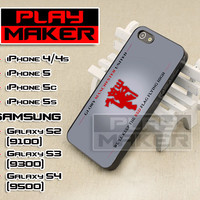 Glory Manchester United - iPhone 4/4s, iPhone 5, 5s, 5c, Samsung Galaxys2, s3 and s4 Case