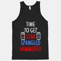TIME TO GET STAR SPANGLED HAMMERED ( RED, WHITE, BLUE) - $24