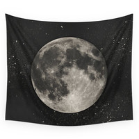 Society6 The Moon Sans Type Wall Tapestry