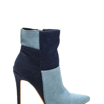 Light Or Dark Washed Denim Booties GoJane.com