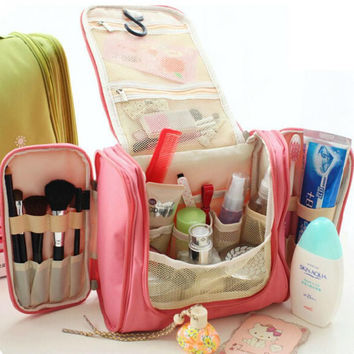 Multifunctional Woman Toiletry Makeup Kit Bag Storage Waterproof Cosmetic Bag Picnic handBag Organizer travel Toiletry bag
