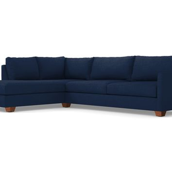 Tuxedo 2pc Sectional Sofa :: Leg Finish: Pecan / Configuration: LAF - Chaise on the Left