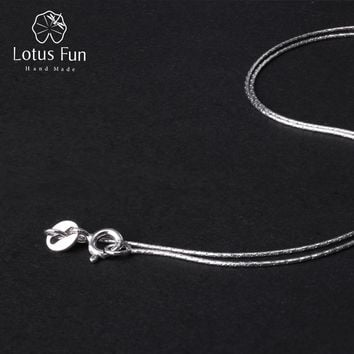 Lotus Fun Real 925 Sterling Silver Fine Jewelry High Quality Classic Design Necklace Chain for Women Acessorio Collier