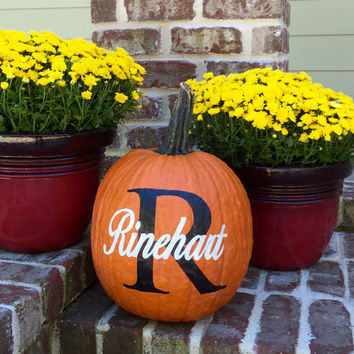 Halloween, Personalized Pumpkin Decals, Fall Decorations, Personalized Pumpkin Decal, Monogrammed Home Decor for Fall, DIY