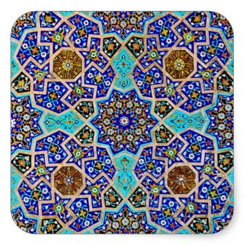 Vintage Turkish Moroccan Persian Mosaic Blue Tiles