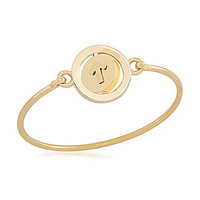 Carolee Word Play Stand Up to Cancer Charity Bangle Bracelet - Gold