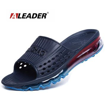 Aleader High Quality Men's Cushioned Summer Sandals 2017 Breathable Beach Sandals Outdoor Water Shoes Men Sport Sandals