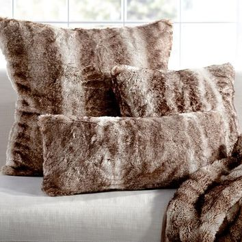 Faux Fur Pillow Cover - Caramel Ombre