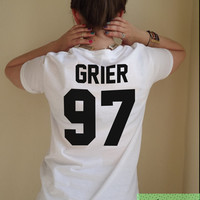 Grier 97 Nash T Shirt Unisex White Black Grey S M L XL Tumblr Instagram Blogger