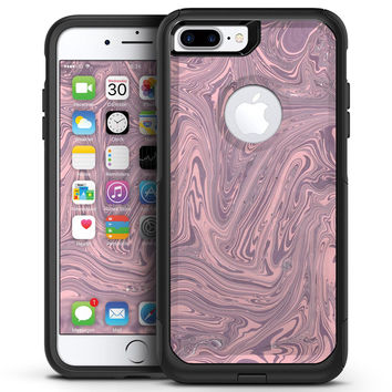 Marbleized Swirling Pink and Purple - iPhone 7 or 7 Plus Commuter Case Skin Kit