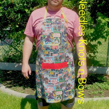 Star Wars Comic Themed Mens Apron, Unisex Apron, Womens, Star Wars