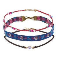 Fabric Choker Pack - Multi