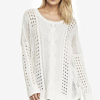 MARLED OPEN STITCH TUNIC SWEATER from EXPRESS