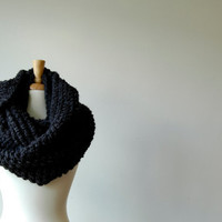 The Abington Warmer in charcoal cowl scarf infinity by KraeO
