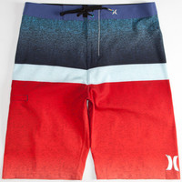 Hurley Phantom Blocked Flight Mens Boardshorts Red/White/Blue  In Sizes