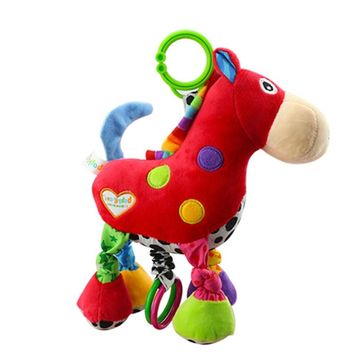 Infant Baby Musical Toys Cute Plush Donkey for Pushchair Pram Car Seat