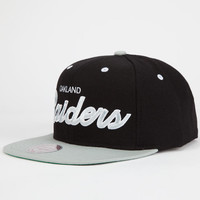 Mitchell & Ness Oakland Raiders Mens Snapback Hat Black/Grey One Size For Men 25699112701