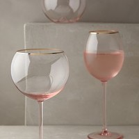 Gilded Rim Stemware by Anthropologie