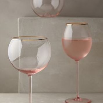 Gilded Rim Stemless Glass by Anthropologie