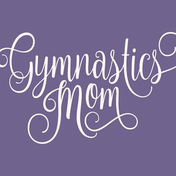 Gymnastics Mom Sport Vinyl Wall Decal