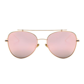 ROYAL GIRL Women Classic Brand Metal Cool Sun Glasses Colorful Reflective lens Alloy Legs Eyeware SS