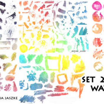 brushes set, photoshop MEGA PACK, 222 brushes watercolor set , photoshop brushes, abr, watercolour painting, aquarell brushes
