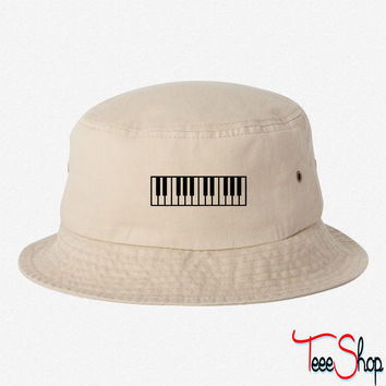 Piano EMBROIDERED BUCKET HAT