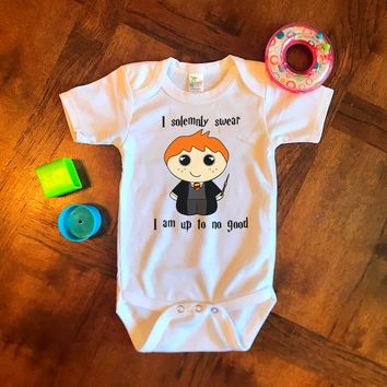 Harry Potter I Solemnly Swear I Am Up To No Good Funny Baby Onesuit