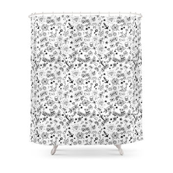 Society6 Traditional Tattoo Shower Curtains