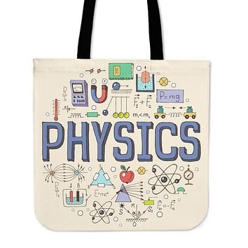Physics Pattern Linen Tote Bag - Promo