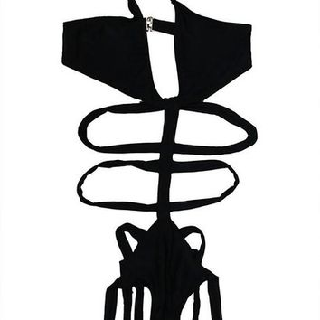Wenseny STRAPPY ONE PIECE BIKINI SWIMSUIT