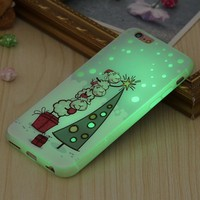 Christmas Cover For iPhone Theme luminous Mobile Phone Case 6 4.7 ich/