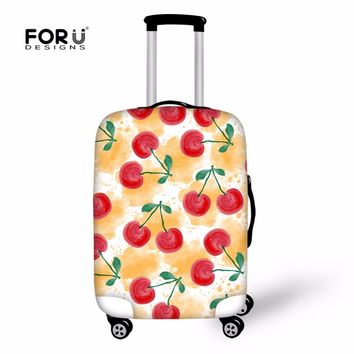 FORUDESIGNS Cartoon Luggage Cover Trolley Suitcase Girls Women Dust Protective Case Covers For Baggage Kawaii Travel Accessories